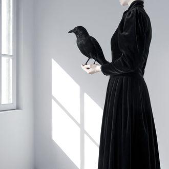 Фото Девушка в черном одеянии держит ворона, парижский фотограф Джулиет Бейтс / Juliette Bates (© Radieschen), добавлено: 23.03.2012 07:25