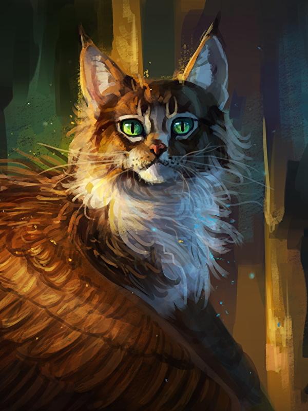 Картинки крылатая кошка