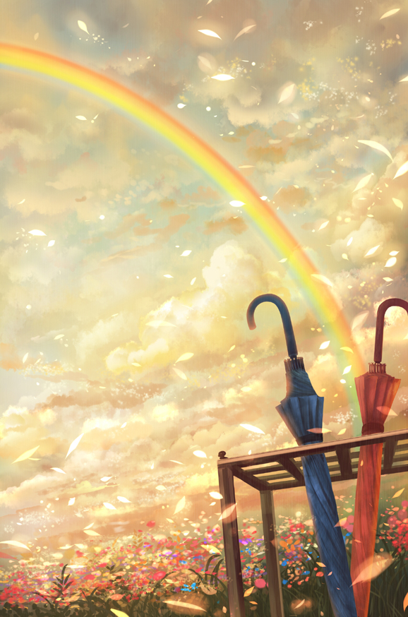 этого крепим картинки двое на радуге него