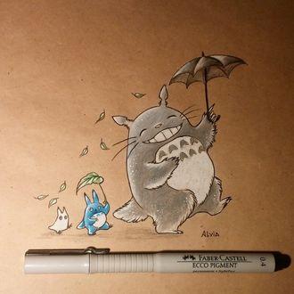 Фото Totoro / Тоторо, Chibi Totoro / Маленький Тоторо из аниме Мой сосед Тоторо / My Neighbor Totoro, by AlviaAlcedo