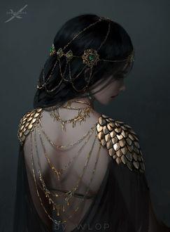 Фото Принцесса Aeolian в торжественном платье, by WLOP