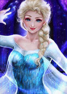 Фото Эльза / Elsa из мультфильма Холодное сердце / Frozen, by magato98
