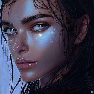 Фото Портрет Елены Темниковой со звездочками под глазами, by Julia Razumova