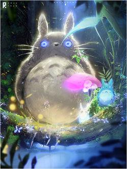 Фото Totoro / Тоторо, Chibi Totoro / Маленький Тоторо из аниме Мой сосед Тоторо / My Neighbor Totoro, by rossdraws
