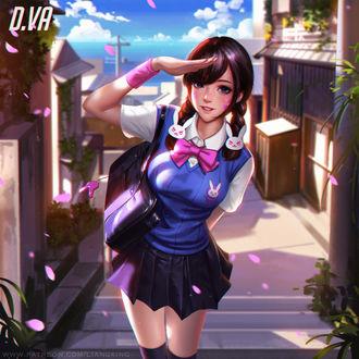 Фото D. VA / Ханна Сон из игры Overwatch / Дозор, by Liang-Xing