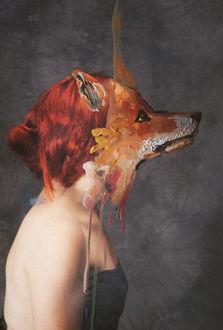 Фото Девушка с лисьей мордой вместо лица, by Валерия Трасатти