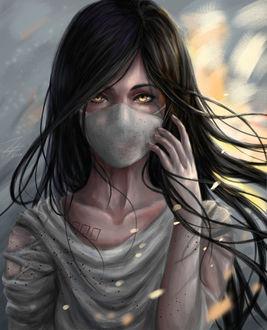 Фото Желтоглазая девушка в маске, by Zhange000