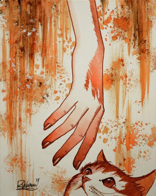 Фото Рука человека перед мордочкой кота, by Raphael Vavasseur