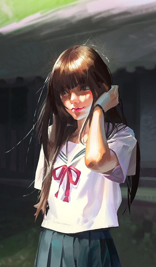 Фото Девушка в школьной форме, by Li Didivi
