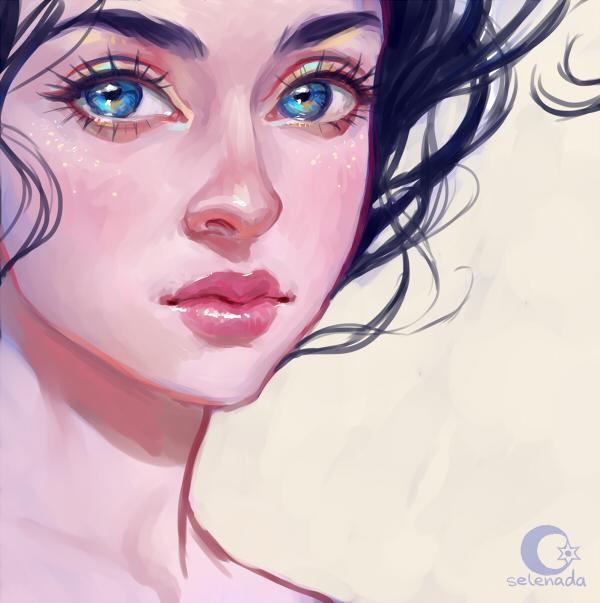 Фото Красивая голубоглазая девушка, by Selenada