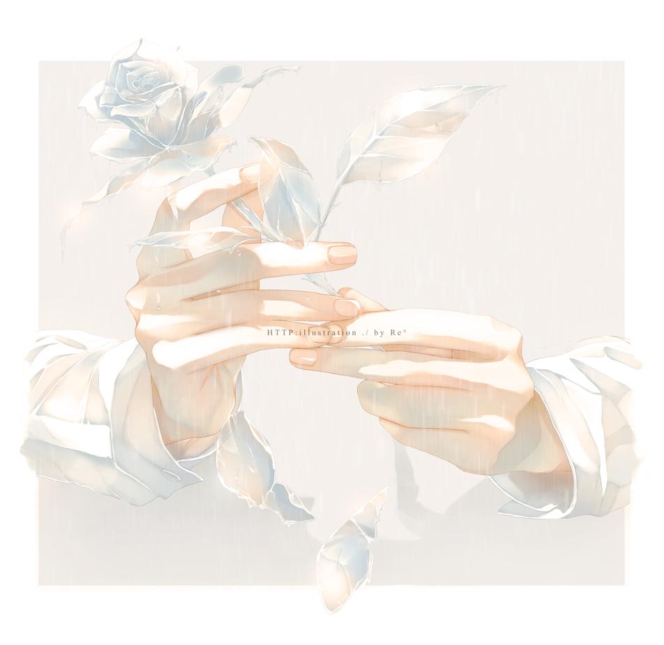 Фото Мужские руки держат розу, by Re°