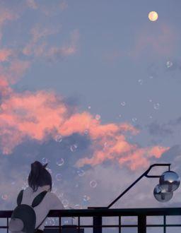 Фото Девушка на фоне облачного неба, by _sousou_