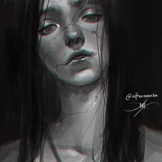 Фото Девушка с трещинами на лице и на теле, by Afternoontm