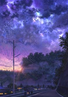 Фото Дорога под вечерним облачным небом, by NIK