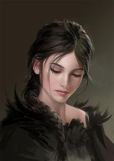 Фото Портрет красивой грустной девушки, by sandara