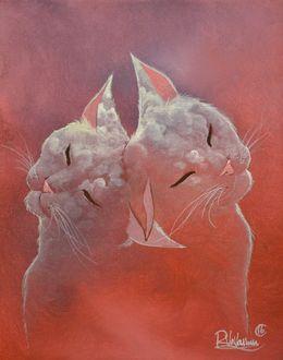 Фото Кошки с изображением облаков на мордочке, by Raphael Vavasseur