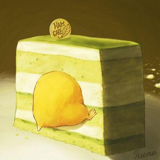 Фото Хомячок застрял в кусочке торта, by Nunu_rodent (HAM CAKE)