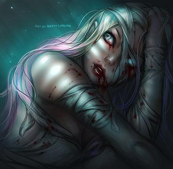 Фото Девушка с кровью на лице, by PeculiarDork