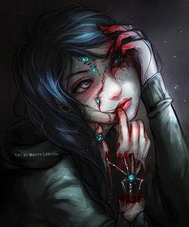 Фото Девушка с кровью на руках, by PeculiarDork