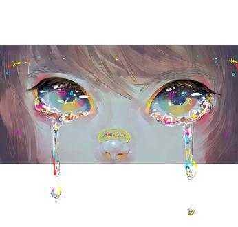 Фото Девушка со слезами на лице, by RobinGlt