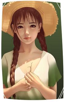 Фото Девушка в шляпе, с длинными косами, by Jun Luo (© zmeiy), добавлено: 15.07.2017 22:58