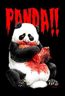 Фото Окровавленная панда сидит и держит в передних лапах оторванную человеческую руку (PANDA!), by KGBigelow