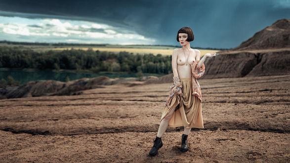 Фото Девушка Полина стоит на фоне природы, фотограф Георгий Чернядьев