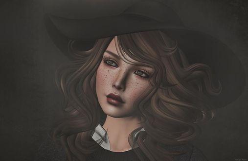 Фото Девушка в шляпе