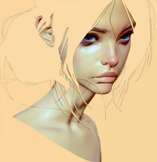 Фото Портрет девушки в желтых тонах, Art of Cezar Brandao