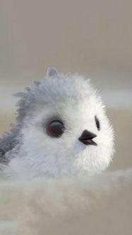 Фото Птенец-песочник из мультфильма Piper / Песочник