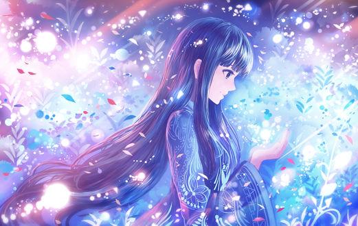 Фото Девушка с длинными волосами держит перед собой руки, by sakimori