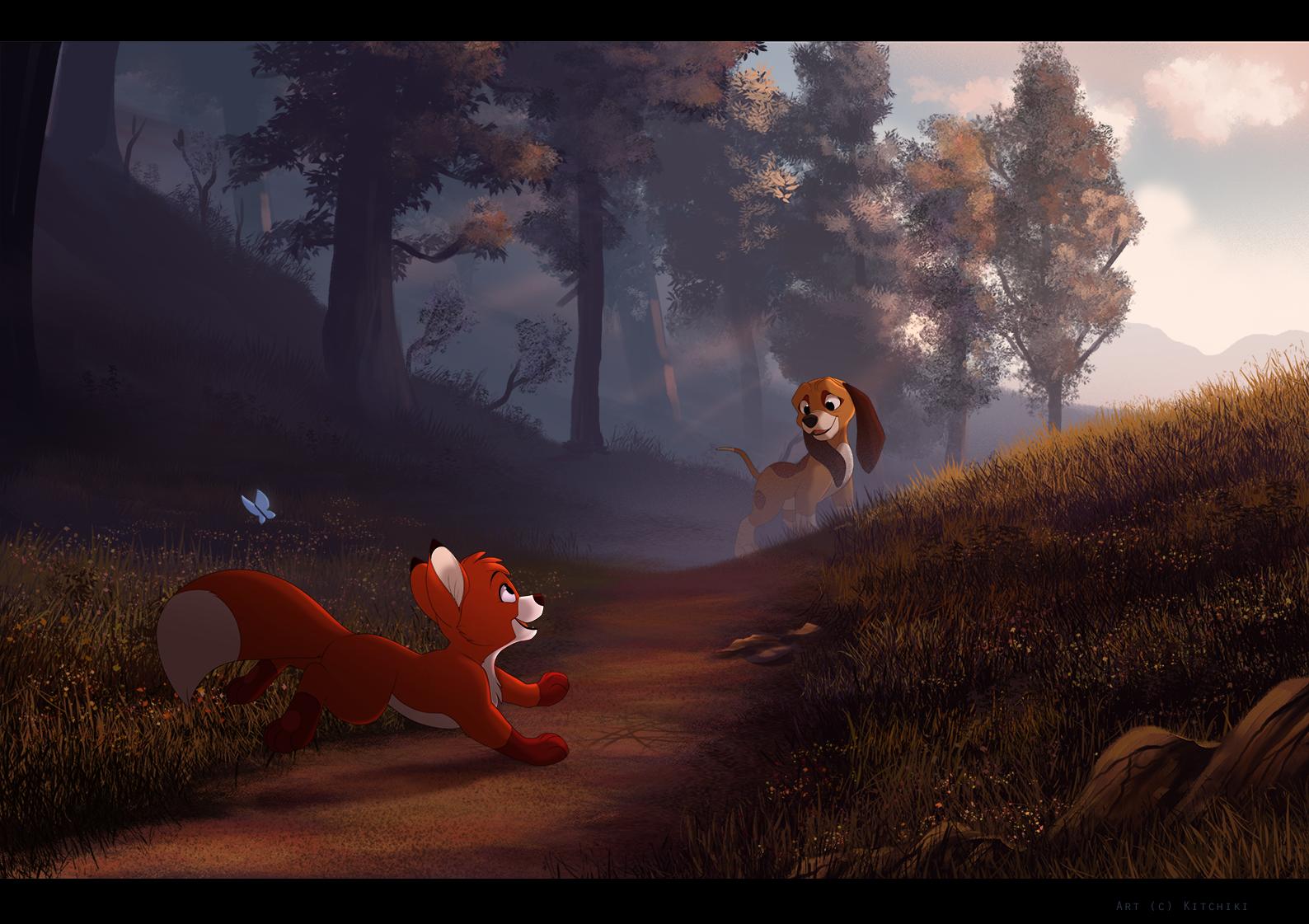 Лис и охотничий пес картинки на аву
