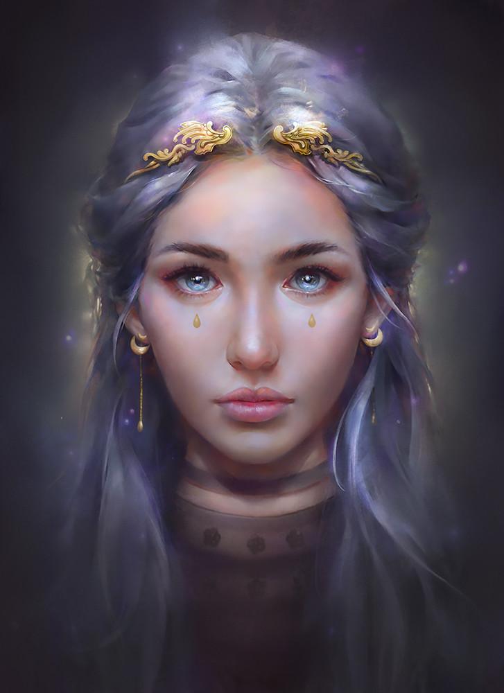 Картинки портреты девушек фэнтези