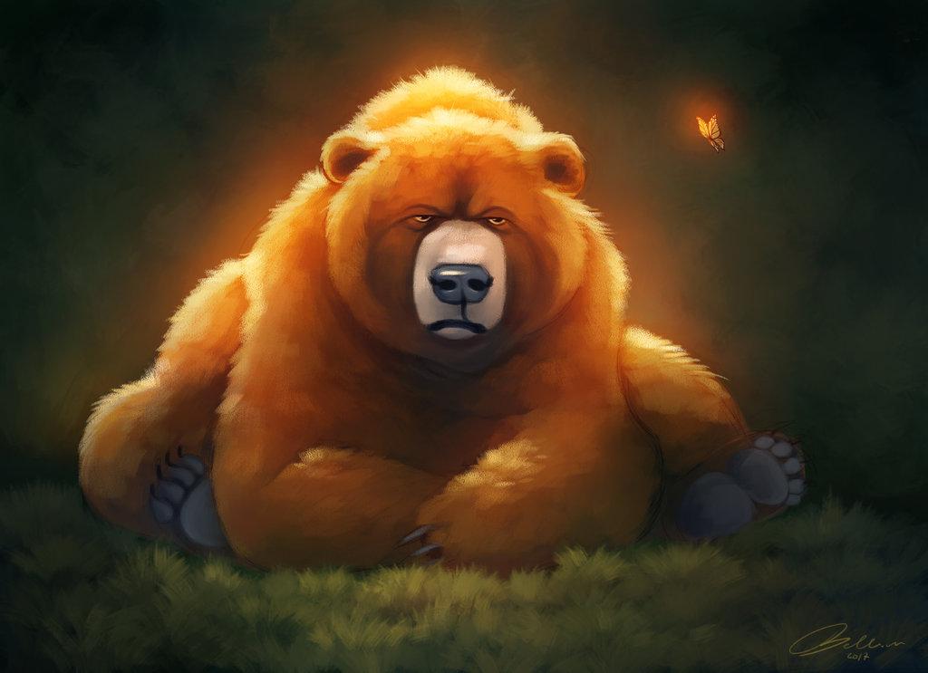 красивые рисунки медведей достопримечательность города затопленная