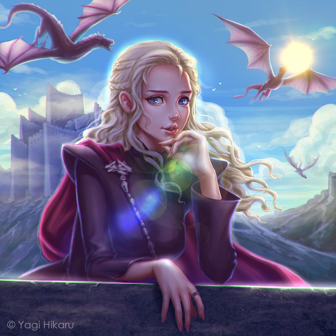 Фото Дейенерис Таргариен / Daenerys Targaryen из сериала Игра престолов / Game of Thrones, by yagihikaru