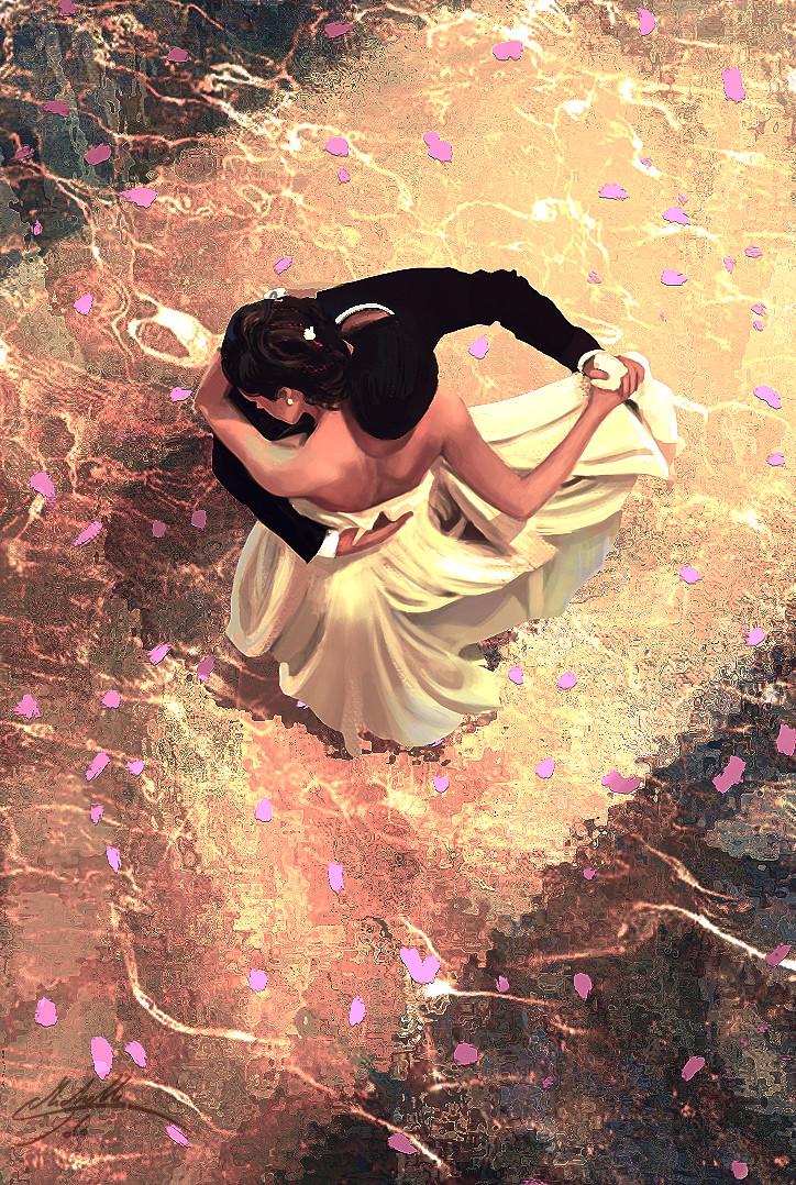 Девушка и парень танцуют картинка