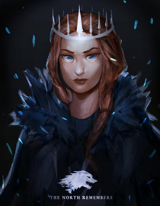 Фото Sansa Stark / Санса Старк из сериала Game Of Trones / Игра Престолов (The north remembers), by pasteltea