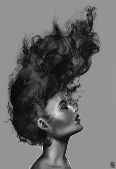 Фото Портрет девушки с развевающимися волосами, by Margaux DOURY