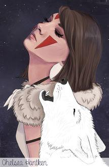 Фото Сан / San из аниме Принцесса Мононокэ / Princess Mononoke, by ChelseaHantken