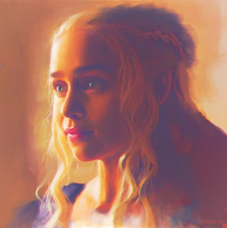 Фото Эмилия Кларк в роли Дейенерис Таргариен / Daenerys Targaryen из сериала Игра престолов / Game of Thrones, автор Anthony Dav