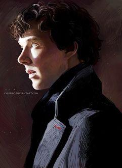 Фото Бенедикта Камбербэтча / Benedict Cumberbatch в роли Шерлока Холмса / Sherlock Holmes из сериала Шерлок / Sherlock, автор Daria Churieqova
