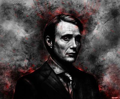 Фото Hannibal Lecter / Ганнибал Лектер из сериала Hannibal / Ганнибал, by p1xer