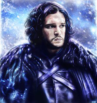 Фото Jon Snow / Джон Сноу из сериала Game Of Trones / Игра Престолов, by p1xer