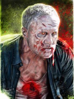 Фото Merle Dixon / Мерл Диксон из сериала The Walking Dead / Ходячие мертвецы, by p1xer