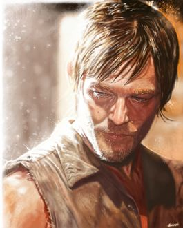 Фото Daryl Dixon / Дэрил Диксон из сериала The Walking Dead / Ходячие мертвецы, by p1xer