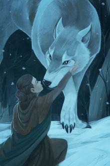 Фото Arya Stark / Арья Старк и волк из сериала Game Of Trones / Игра Престолов, by LessaNamidairo