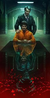 Фото Hannibal Lecter / Ганнибал Лектер и Will Graham / Уилл Грэм из сериала Hannibal / Ганнибал, by Eneada