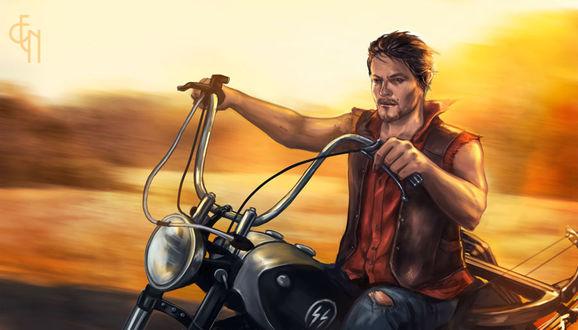 Фото Daryl Dixon / Дэрил Диксон из сериала The Walking Dead / Ходячие мертвецы, by Eneada
