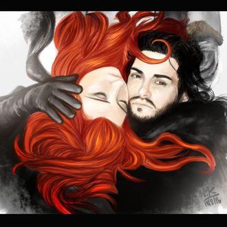 Фото Jon Snow / Джон Сноу и Sansa Stark / Санса Старк из сериала Game Of Trones / Игра Престолов, by Atitharn
