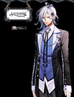 Фото Икки из аниме Амнезия / Amnesia рядом с именной табличкой
